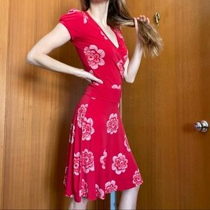 Smart Set Vibrant Stretchy Red Dress